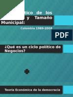 Ciclo Político de Los Negocios y Tamaño Municipal