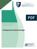RCOG- antepartum haemorrhage