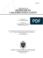 the Role of Museum in Children Education