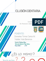 Inclusion Dentaria - Cirugia Bucal