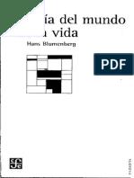 Blumenberg - Teoria Del Mundo de La Vida