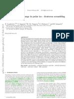 Thermal HD Exchange in Polar Ice - Deuteron Scrambling in Space