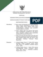 Permentan No.42 Tahun 2013