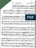 Sammartini, Sonate n°4 en ré mineur, 2 flûtes et basse continue