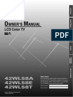 Lcdtv 42wl58a User Manual