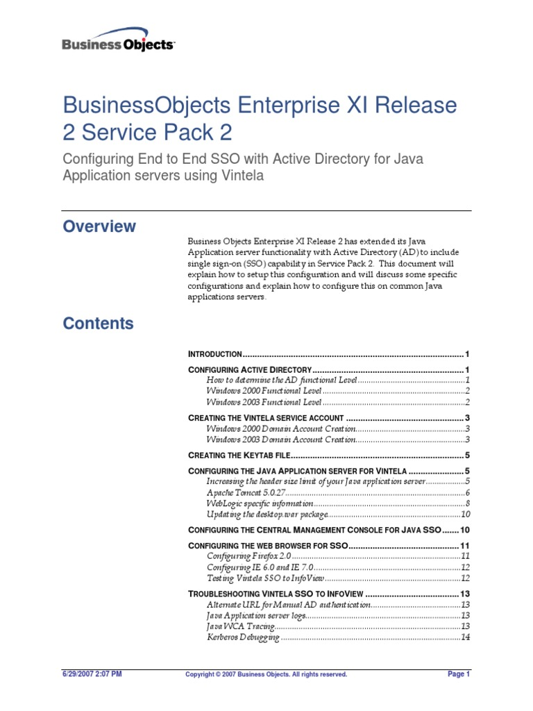 configuring businessobjects enterprise xi r2 sp2 end to end sso with rh scribd com Business Person Icon Business Person Icon