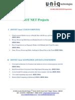 Dot Net Projects -IEEE 2014 v2