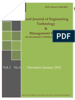 Excel Journal of Engineering Technology & Manaement Science