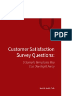 Customer Satisfaction Survey Questions: