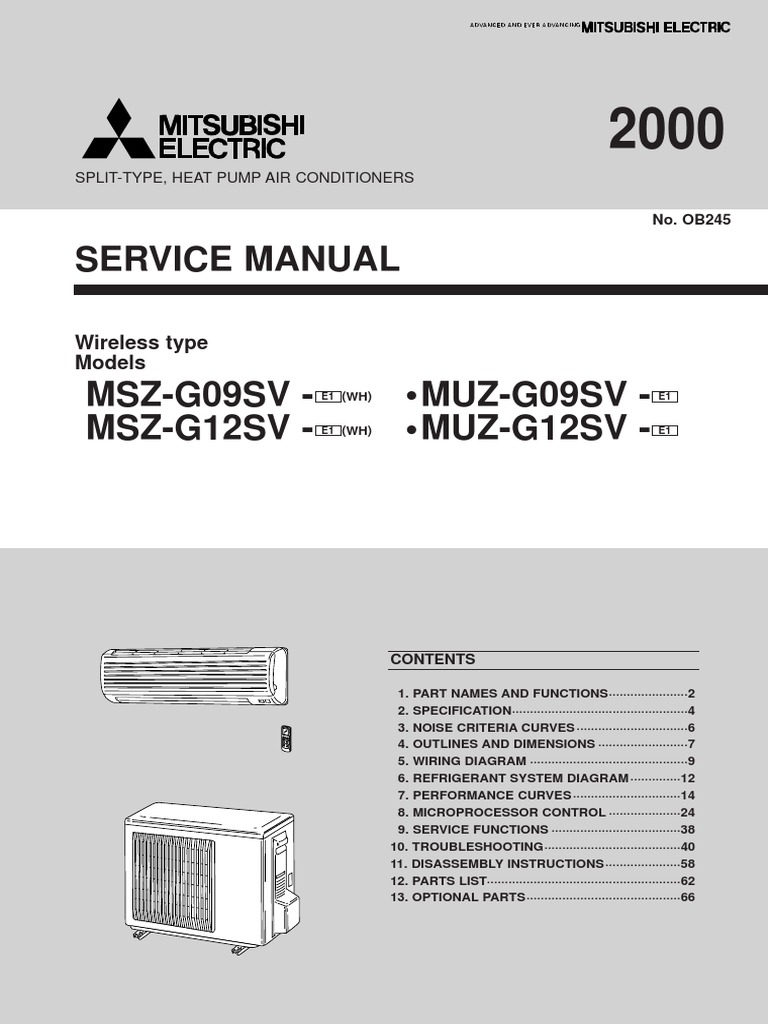 Mitsubishi Air Conditioner Conditioning Thermometer Electric Wiring Diagram