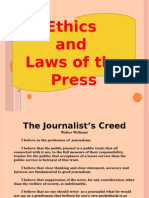 Ethics and Laws of the Press