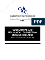 CAPE Geometrical and Mechanical Engineering Drawing