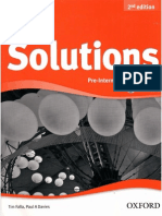 Solutions 2nd Ed - Pre-Int - WB