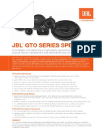 JBL GTO SERIES SPEAKERS