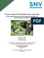 Pro-poor analysis of the Rwandan tourism value chain