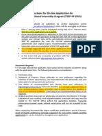 TIGP IIP Guidelines