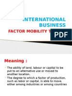 Factor Mobility Theory