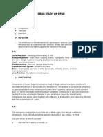 Drug Study on Ppud