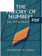Anthony a. Gioia - The Theory of Numbers (an Introduction)
