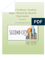 Second City Events - Music Gig Evaluation