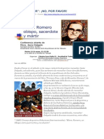 Sobre El Asesinato de Monseñor Romero
