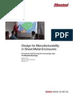 Design for Manufacturability in Sheet Metal Enclosures