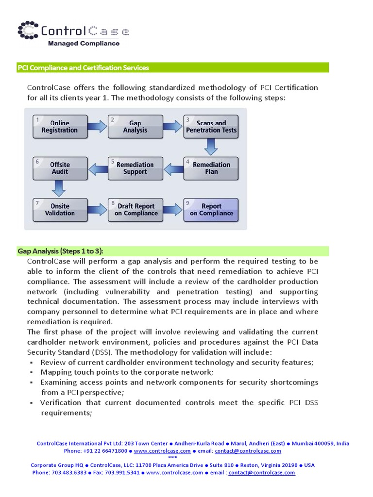 Pci Compliance And Certification Servicespdf Payment Card