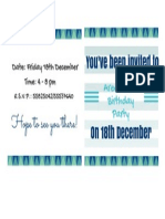 Printable Bday Invitation