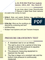 pressure drawdown test