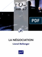 La Negociation - Lionel Bellenger