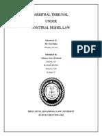 ARBITRAL TRIBUNAL  UNDER  UNCITRAL MODEL LAW