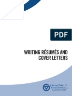 Writing Resumes and Cover Letters