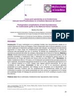 Complicaciones post operatorias en la tiroidectomía total por bocio multinodular en el Instituto Nacional del Cáncer