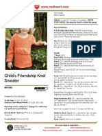 CROCHET - Child's Friendship Knot Sweater