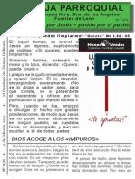 Hoja Parroquial nº 1476 15 febrero 2015