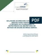 071 Balanced Scorecard Com Foco Na Gestão Para Cidadania a Revisão Do Planejamento Estratégico Da Secretaria de Estado de Saúde de Minas Gerais
