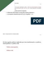O Surgimento Da Política-Vida (Apresentação - A Giddens, In Modernidade e Identidade)