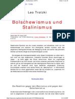 Trotzky Leo Bolschewismus Und Stalinismus