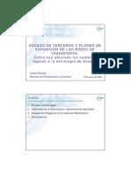 ACCESO DE TERCEROS Y PLANES DE EXPANSIÓN DE LAS REDES DE TRANSPORTE
