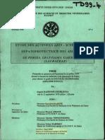 Etude des activitées anti-icterique et hepatoprotectrice des amandes  de persea gratissima