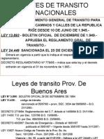 Leyes de Transito Nacionales