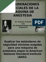 Consideraciones Especiales de La Maquina de Anestesia