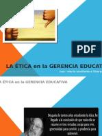 La Ética en La Gerencia Educativa