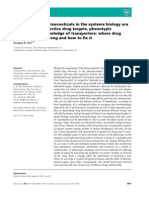 Finding novel pharmaceuticals in the systems biology era