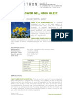 Pds Sunflower Oil High Oleic Tx008082