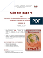 Call for Papers ICMIE 2015