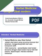 INTERAKSI HERBAL-MODERN