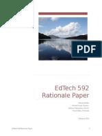 EdTech 592 Rationale Paper