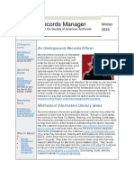 The Records Manager Newsletter Winter 2015