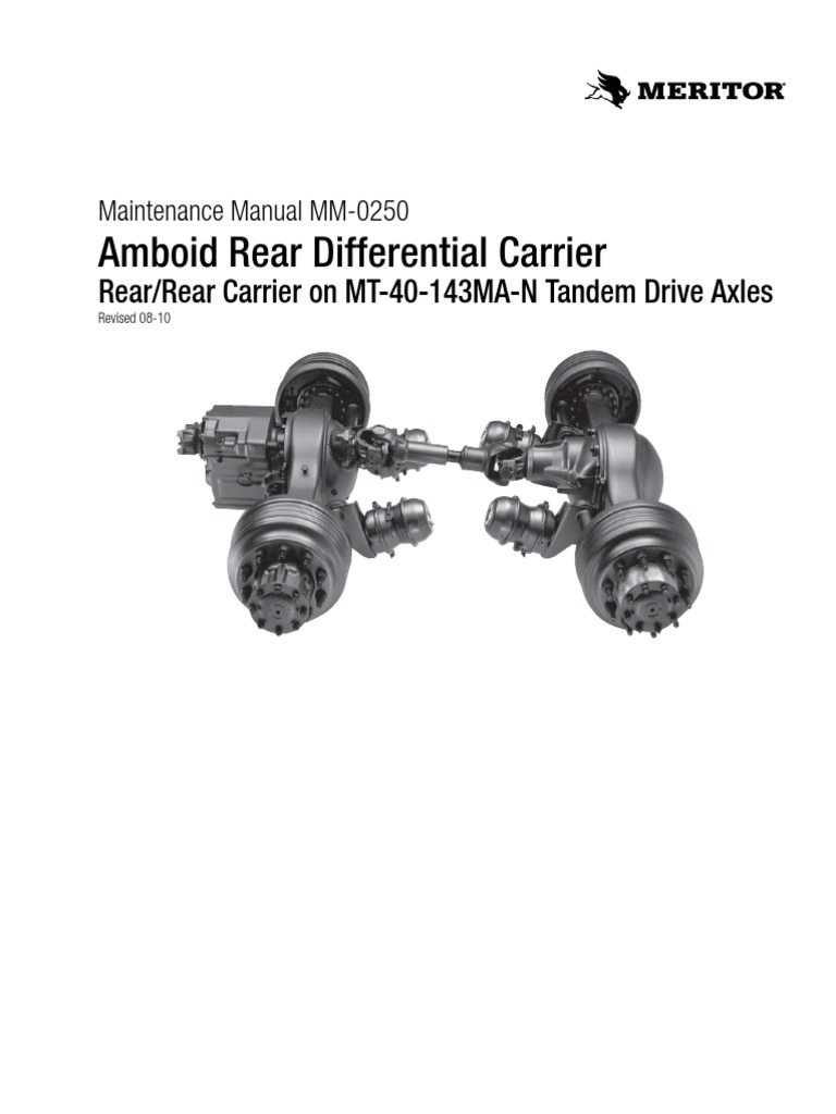 Amboid Rear Differential Carrier: Rear/Rear Carrier on MT